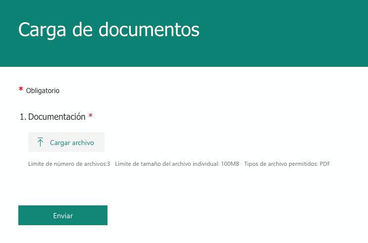 Carga de documentos