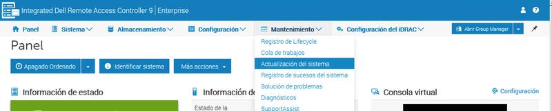 Dell iDRAC: Upgrade http v9