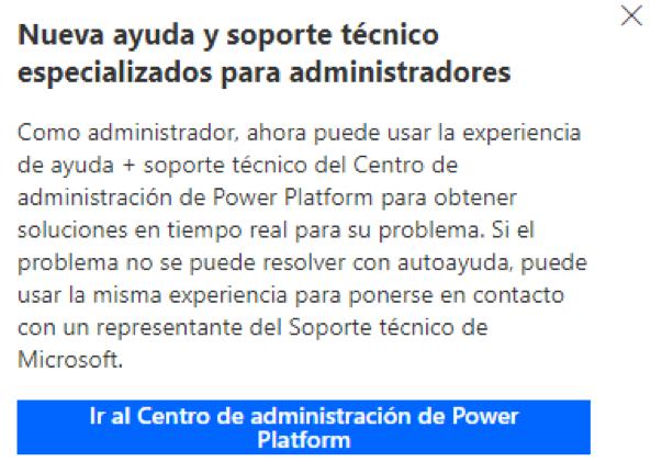 Centro de administración de Power Platform