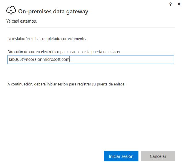 On premise data gateway