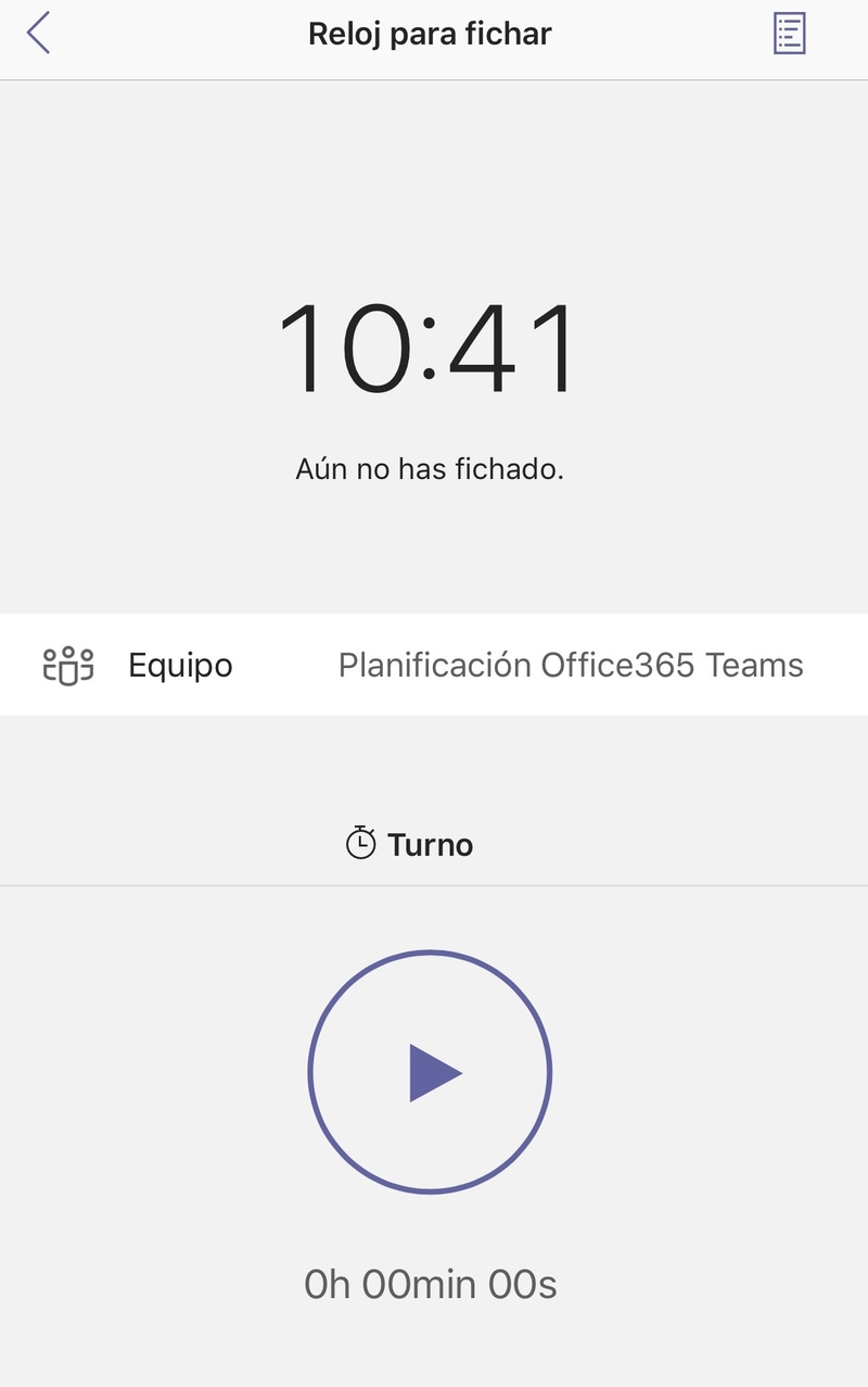 Microsoft Teams: Registro laboral