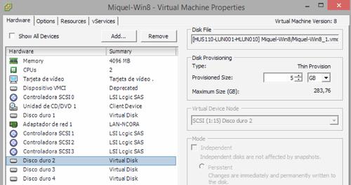 VMware vSphere: identificar los discos de una VM desde Windows