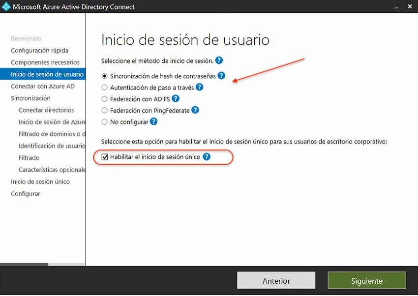 Inicio de sesión de usuario en Azure AD